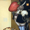"""""""Strawberry Collector"""" Original Oil on Canvas by Michael Parkes"""