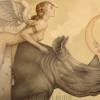 """""""Lunar Moth"""" Original Oil on Canvas by Michael Parkes"""