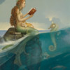 """""""Mermaid's Secret"""" Original Oil on Canvas by Michael Parkes"""