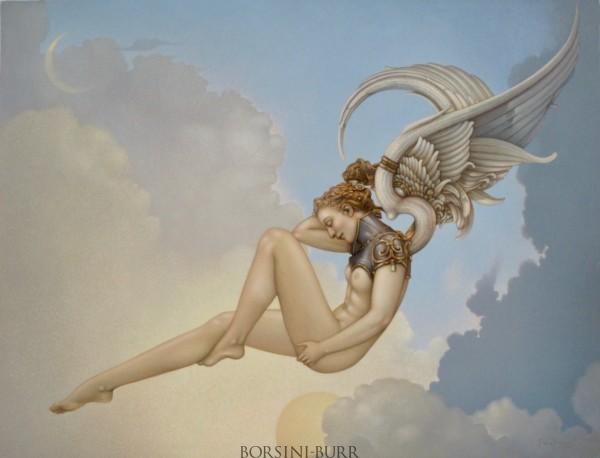 """Dawn"" Original Oil on Canvas by Michael Parkes"