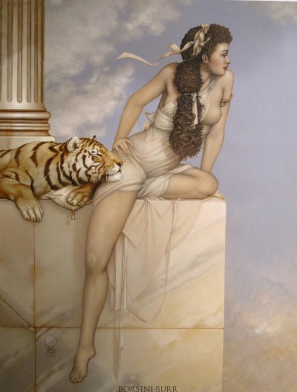 """""""Danae"""" Original Oil on Canvas by Michael Parkes"""