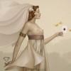 """Queen of Diamonds"" Original Oil on Canvas by Michael Parkes"