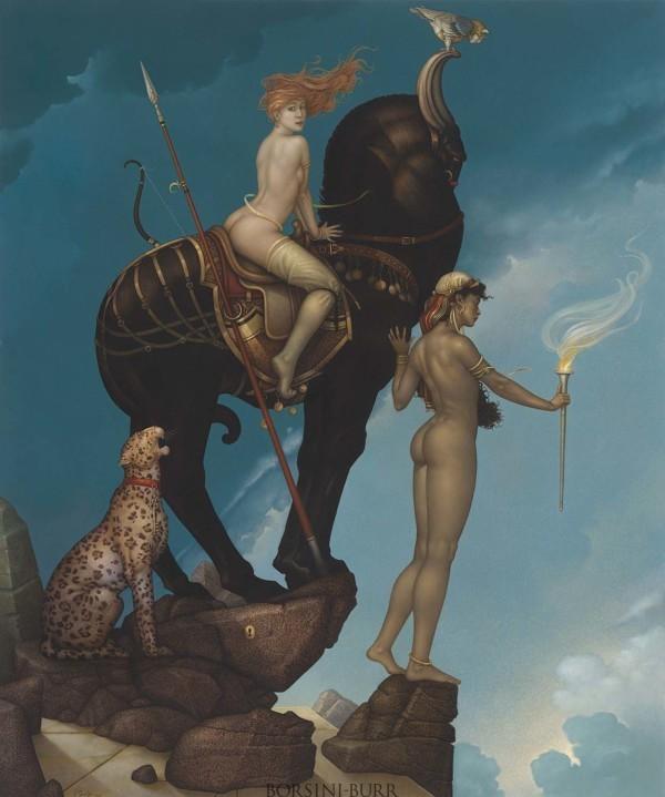 """Return of Persephone"" Original Oil on Canvas by Michael Parkes"