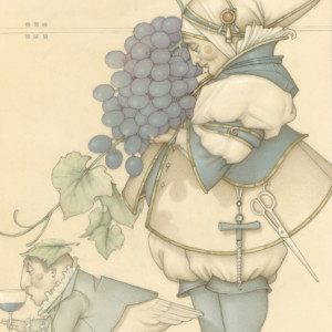 """""""Wine Collector"""" Fine Art Edition on Paper by Michael Parkes"""